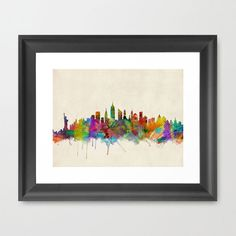Larger than life and forever on the move, New York City is the gold standard by which all other cities are measured. Its unmistakable skyline adorns this giclée print with a splash of rainbow-hued, wat...  Find the Big Apple Splash Art Print, as seen in the Urban Chic Loft Collection at http://dotandbo.com/collections/trending-urban-chic-loft?utm_source=pinterest&utm_medium=organic&db_sku=90557