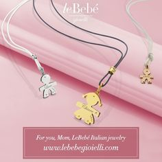 """Discover LeBebé Italian jewelry designed just for moms. :) """"The Classics"""" collection can be customized, featuring the name of the one love. #moms #jewelry #lebebe www.lebebegioielli.comz"""