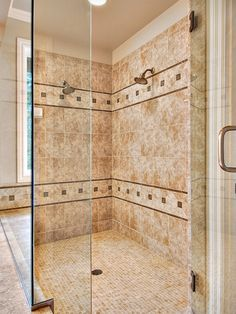 Master bath shower enclosure - traditional - bathroom - - by John F Buchan Homes Bathroom Shower Panels, Master Bathroom Shower, Glass Bathroom, Bathroom Ideas, Shower Ideas, Master Bathrooms, Bathroom Remodeling, Bathroom Faucets, Have A Shower