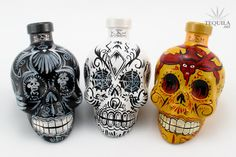 kahtequila.com - US - Uniquely Painted Tequila Skull Bottles