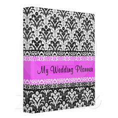 Bride's Wedding Planner Notebook Binder. Gift for the Bride to Be.  Original Damask Pattern by Divine Damask. Need one of these!