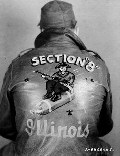 A-2 Bomber Jacket Art (WWII) - SECTION 8 ILLINOIS via RetroWaste.com