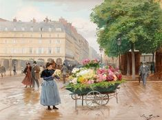 Victor Gabriel Gilbert was a French painter🎨 mostly known for their Parisian scenes and portraying market scenes there. He studied with Victor Adam and subsequently with the Charles Busson Gabriel, Dragon Artwork, Academic Art, Louvre, Painting People, Impressionism, Scene, Landscape, Illustration
