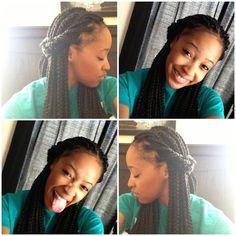 Box braids #natural #love