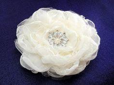 """Fabric Flower, Rose Bloom 6"""", Tutorial, DIY"""