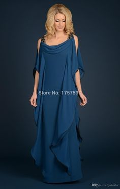 Grecian Goddess Chiffon Mothers Dress With Straps Floor Length Long Elegant Women Dress Mother of the bride groom Dress