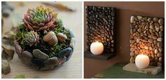 Daca vrei sa iesi in evidenta cu obiecte decorative inedite, o poti face cu unele realizate din pietre de rau. Idei creative de tip DIY Homemade Gifts, Gardening Tips, Succulents, Ceramics, Plants, Zen Bathroom, Bathroom Ideas, Design Interior, Rocks