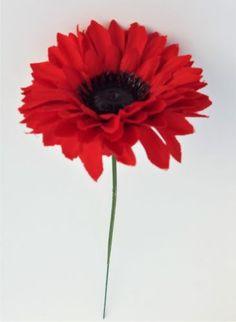 Artificial Flower Chrysanthemum Single Stem Red - Irish Plants Direct