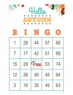 Autumn Bingo Cards, 1000 cards, 1 per page, immediate pdf download, Fall Bingo Halloween Bingo Cards, Custom Bingo Cards, Bingo Calls, Bingo Patterns, Email Programs, I Am Game, Etsy App, Autumn, Fall