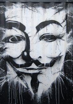 Anonymous Street Art | #anonymous #art
