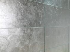 Indoor silver leaf wall/floor tiles PAN DE PLATA MEGALOS Vitra Collection by DUNE CERAMICA