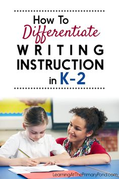 LOTS of ideas for differentiating your writing instruction in this post! Differentiated writing paper, individual goal setting, and leveled rubrics are just a few of the ideas discussed! These strategies are ideal for Kindergarten, first grade, or second