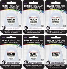 Reach Total Care Plus Whitening Mint Floss, 30 Yard (Pack of 6) FREE SHIPPING #Reach