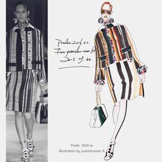 « prada ss 2016 Fashion illustration by Chunran »