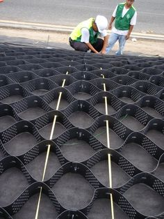 geoweb slope protection installation