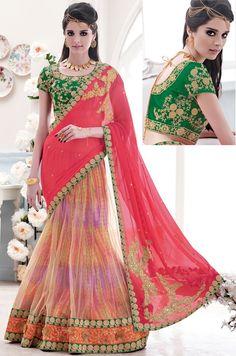 Multicolor Chiffon #LehengaStyle #Bridal #Saree with Blouse