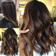 👩🏻‍🎨❤ 🍂FALL TONES🍂✨Cocoa Creme toned ✨PaintedHair✨❤🍁👩🏻‍🎨 P. If you want your stylist to recreate this look you have to be ok with warmth in your hair (Yes ladies, that means golden tones 🌟)!🍂❤ I suggest Gb, G, & WB in b Brown Hair Balayage, Balayage Brunette, Brunette Hair, Hair Highlights, Ombre Hair, Bayalage, Ash Blonde, Ethiopian Hair, Biolage Hair
