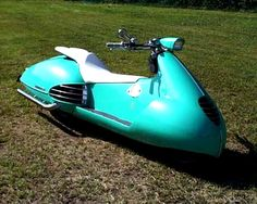Very cool Jetsons style scooter, Spaceship, pulp retro futurism back to the future tomorrow tomorrowland space planet age sci-fi airship steampunk dieselpunk alien aliens martian martians BEMs BEM's