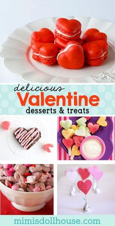 "Yummy Valentine Desserts and Delicious Food Ideas for Valentine's Day. Let's create some adorable and delicious treats for Valentine's Day. Nothing says ""Happy Valentine's Day"" like a delicious heart shaped treats and desserts! Valentines Day For Boyfriend, Valentines Day Dinner, Valentines Day Treats, Valentine Desserts, Valentine Cookies, Yummy Treats, Delicious Desserts, Dessert Recipes, Valentine's Day Drinks"