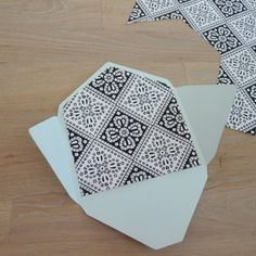 how to make envelopes - just open up an existing envelope and trace a pattern. Duh, why have I never thought of this?