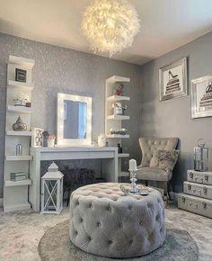 Room Design Bedroom, Girl Bedroom Designs, Room Ideas Bedroom, Bedroom Decorating Tips, Beauty Room Decor, Glam Room, Cute Room Decor, Stylish Bedroom, Aesthetic Room Decor
