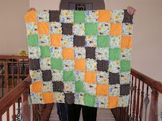The Fleming's Nine: Flannel Rag Quilt