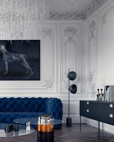 Luxury home decor - Indigo Blue trend can look Stunning in your Living Room See How! – Luxury home decor Room Interior Design, Living Room Interior, Living Room Decor, Living Rooms, Luxury Home Decor, Cheap Home Decor, Luxury Interior, Classic Interior, Modern Interior