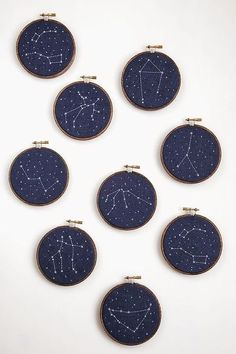 35 Edgy And Chic Constellation Wedding Ideas Embroidery Hoops With Navy Fabric And Embroidery . - 35 Edgy And Chic Constellation Wedding Ideas Embroidery Hoop Earrings With Navy Fabric And Embroide - Embroidery Hoop Art, Hand Embroidery Patterns, Cross Stitch Embroidery, Embroidery Designs, Wedding Embroidery, Embroidery Fabric, Custom Embroidery, Constellations, Navy Fabric