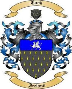 Cook Family Coat of Arms from Ireland