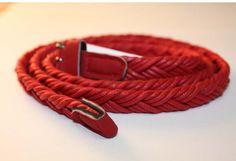 Red Skinny Belt Skinny Belt, Red, Leather