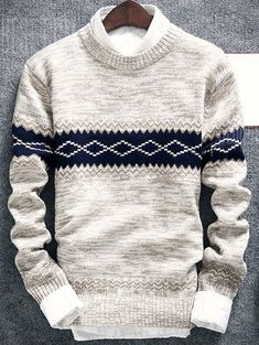 Product Geometric Pattern Space Dye Crew Neck Sweater available for Zaful WW, get it now ! Mens Fashion Sweaters, Mens Fashion Wear, Latest Mens Fashion, Men Sweater, Knit Sweaters, Fashion Hoodies, Pullover, Geometric Patterns, Ideias Fashion