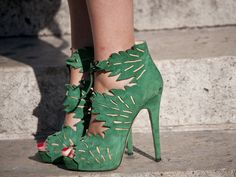 Shoes seen in Paris during Fashion Week.