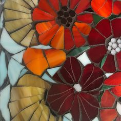 Mosaic Birds, Mosaic Flowers, Mosaic Wall Art, Mosaic Glass, Stained Glass, Mosaic Madness, Mosaic Garden, Flower Template, Glass Christmas Tree