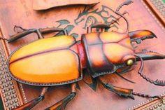 皮做的天牛,是不是很栩栩如生呢@SAMBorges采集到Leather(2227图)_花瓣手工/布艺