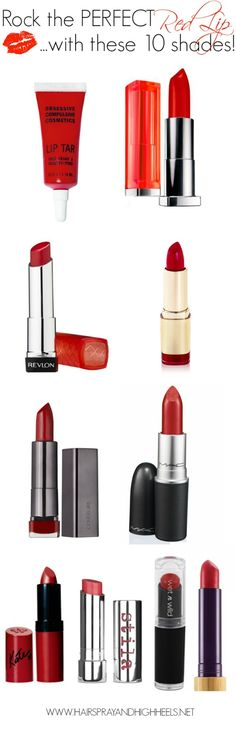 Top 10 Red Lipstick Shades