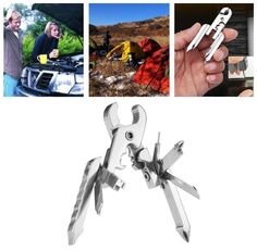 IPRee® 15 in 1 EDC Folding Plier Clamp Knife Keychain Screwdriver Camping Survival Pocket Tools Sale - Banggood.com