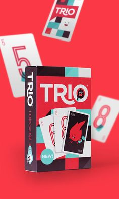 Think these are some beautifully designed cards. Check the game out, it seems quite interesting - Trio card game