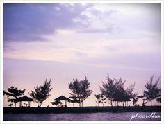 romantic violet beach
