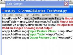 Introduction to ArcGIS Script Tools
