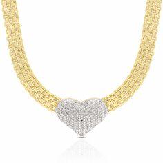 Finesque 1/2ct TDW Diamond Heart Necklace with Gift Box (I-J, I2-I3)