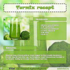 Brokkolis zöld turmix recept #zöld #turmix #recept Cocktail Drinks, Cocktails, Pickles, Cucumber, Smoothies, Health Fitness, Minden, Healthy, Food