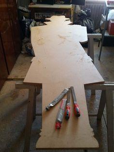 Progetto e realizzazione appendiabito a parete. Md e acrilico, by Annalisa Tombrsi