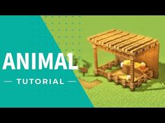 [Minecraft] How to Build an Animal House(Tutorial) Minecraft Pictures, Minecraft Videos, Minecraft Funny, Amazing Minecraft, Minecraft Market, Minecraft Decorations, Minecraft Crafts, Easy Minecraft Houses, Minecraft Buildings