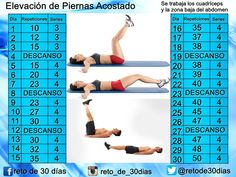 Elevación de Piernas Acostado Reto Fitness, How To Get Sleep, Health And Fitness Tips, Loose Weight, How To Stay Motivated, You Can Do, At Home Workouts, Fit Women, Periodic Table