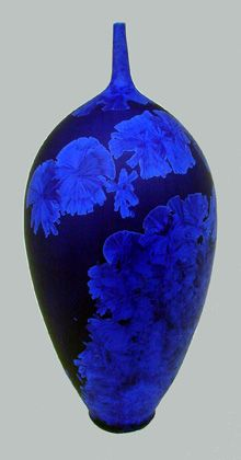 Ceramics by Peter Ilsley at Studiopottery.co.uk - Blue matt. Produced in 2003