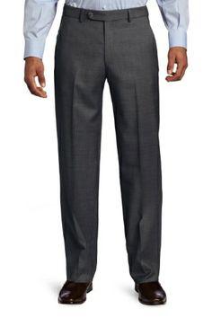 28666466c21 Ballin Classic Comfort-EZE Super 110s Zig-Zag Twill Pants - Dunhill Model  (Modern Plain Front Fit)