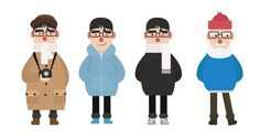 Characters / Outing on Behance