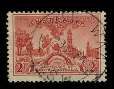 AUSTRALIA - 1936 - CDS OF WEE WAA (NSW) ON 2d CARMINE SG161