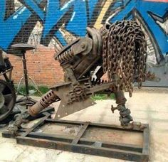 No Other Sculpture Is As Metal As This One