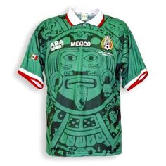 c765f1931 Mexico 1998 Home Men Soccer Retro Jersey Personalized Name and Number